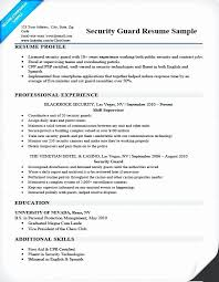 Sample Resume Objectives For Security Officer Best Security Job ...
