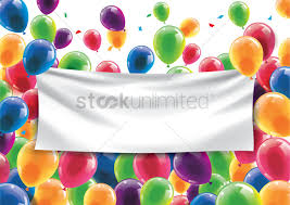Blank Birthday Banner Happy Birthday Concept With An Empty Banner Vector Image
