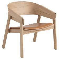 muuto cover lounge chair oak cognac leather