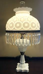 milk glass lamp shades vintage milk glass white moon and stars pattern lg wright electric lamp