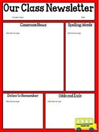 Free Teacher Newsletter Templates Free Editable Classroom Newsletter Template Power Point Tpt