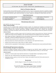 Resume Writing Financial Analyst Sidemcicek Com