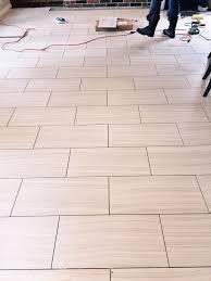bathroom floor tile design patterns. 12 X 24 Tile Floor Being Laid Across The Narrow Width Of Room To Make Bathroom Design Patterns