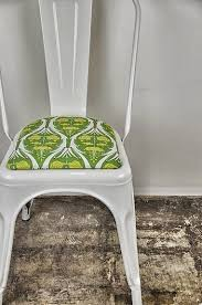 custom upholstered seat cushion for tolix style side by sugarscout