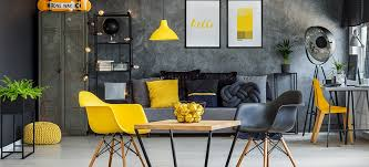 Yellow Office Cosy Bright Office In Yellow And Grey Colors Heute Macht