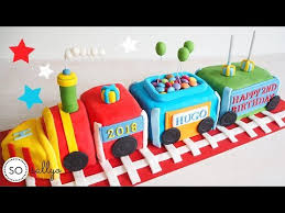 Childrens Birthday Cake Decorating Ideas Train Cake Tutorial Step