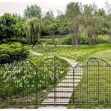 black steel fence gate 860442