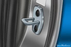 car door latch. Delighful Latch Door Striker Plate In Car Door Latch YourMechanic
