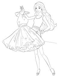Colouring Pages Barbie Trustbanksurinamecom