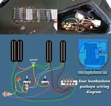 mod garage strat bridge pickup tone control electric guitar Dimarzio Wiring Diagram Dbz four humbuckers pickup wiring diagram all hotrails and quadrail
