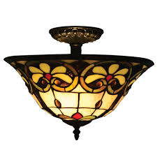 reservoir 2 light tiffany bronze semi flush mount