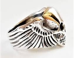 <b>Skull wings</b> ring | Etsy