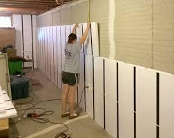 FloortoCeiling Insulation In A Brick Wall Basement  InSoFast - Diy basement wall panels