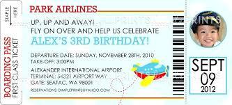 wedding invitation ticket template airplane ticket invitations printable airplane birthday party