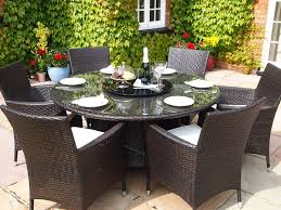 round outdoor dining table set