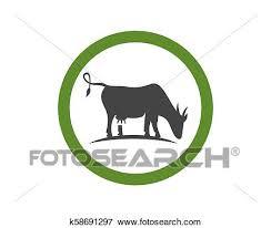 Cow Template Cow Logo Template Clip Art K58691297 Fotosearch