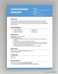 The curriculum vitae, also known as a cv or vita, is a comprehensive statement of your educational background, teaching, and research experience. Cv Resume Templates Examples Doc Word Download