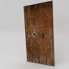 old wooden door 3d model obj fbx ma mb mtl tga