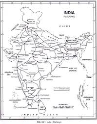 Indian Railway Route Chart Indian Railways Development Factors Distribution And