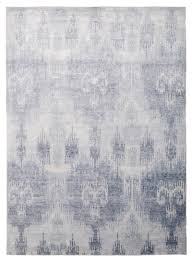 ikat bamboo blue by the rug company  the rug company