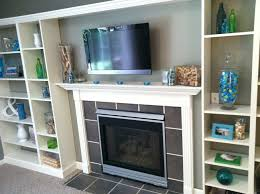 Built In With Fireplace Faux Built In Billy Bookcase Ikea Hack Living Rooms Built Ins