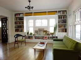 living room built ins eclectic living room
