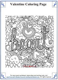 Small Picture Entrancing Valentines Day Coloring Pages Valentine Math Worksheets