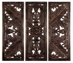 wood wall carvings set of 3 huge fine carving wood wall decor sculpture a indian wooden