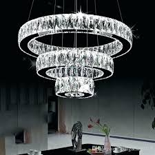 large hanging light fixtures long fixture modern led chandeliers crystals diamond ring lamp stainless steel pendant large hanging light fixtures