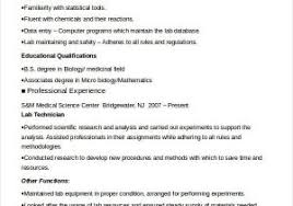 Microbiology Lab Assistant Resume From Chemistry Lab Assistant