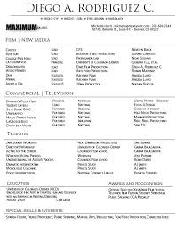 Professional Actor Resume Template Newskey Info