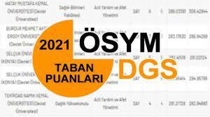 DGS taban puanları 2021! ÖSYM DGS başarı sıralamaları ve üniversite  kontenjanları... - EĞİTİM ÖĞRETİM Haberleri