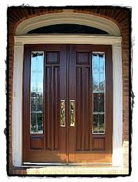 residential double front doors. Custom Stile And Rail Residential Wood Front Doors With Glass Solid Brass Hardware Manufactured Double