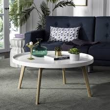 coffee table fox8207a coffee tables furniture by saf round white coffee tables