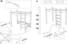 Ikea Instruction Manuals Ikea Beds Lo Bunk Bed Frame Twin Pdf Assembly Instruction Free