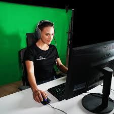 Streaming Light Setup Spectrum Twitch Kit Chroma Key Green Screen Gaming Ring Light Setup