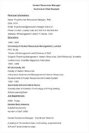 Human Resource Resume Sample Human Resource Management Resume Hr ...