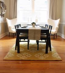 Dinning Rooms  Rustic Modern Dining Room With Round Wood Table - Modern dining room rugs