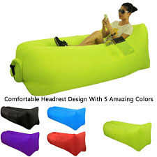 inflatable lounge furniture. Camping Accessories :Great Home Inflatable Lounger Sofa Air Sleeping Bag Beach Lounge Chair Bean Hammock Couch Laybag La\u2026 Furniture