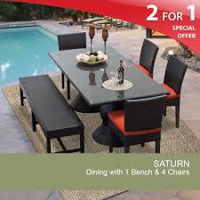 luxurypatio modern rattan tommy bahama outdoor furniture. Rectangular Patio Dining Table Outdoor With Bench Luxurypatio Modern Rattan Tommy Bahama Furniture