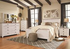 Enjoyable White Washed Bedroom Furniture Sleigh Bed Set Rustic ...
