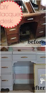 white lacquered furniture. DIY White Lacquer Desk Lacquered Furniture A