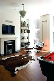 pool table area rug size under living room with cow hide and chair architects milk rugs