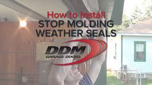 garage door stop moldingHow To Install PVC Stop Molding on a Garage Door  YouTube