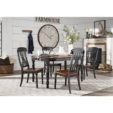 ethan home mackenzie 7 piece country antique white dining set. mackenzie country antique extending scroll back dining set by inspire q classic ethan home 7 piece white i