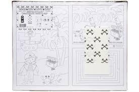 Placematkleurplaat Piraat Set Bellus Toys