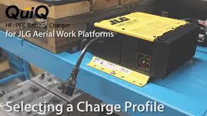 delta q quiq charger for jlg machines selecting a charge profile delta q quiq charger for jlg machines selecting a charge profile