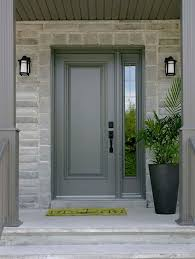 black front door with sidelightsSteel Entry Doors With Sidelights And Transom  entry  Pinterest