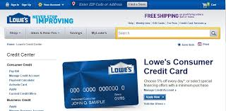 lowes consumer credit card login