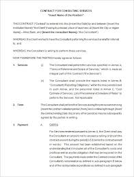 Consulting Agreement Sample In Word Unique Consulting Agreement Template Kordurmoorddinerco